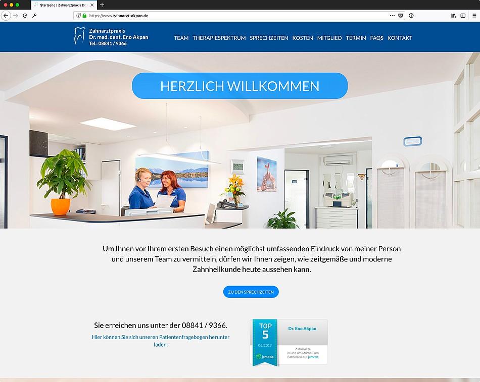Website bis heute